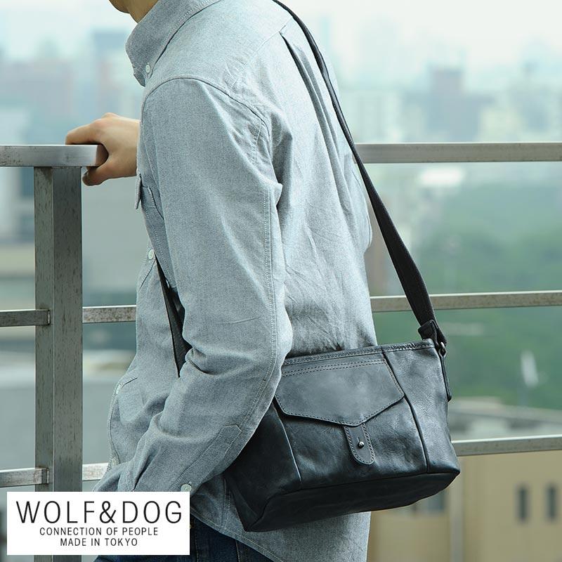 【 ポイント2倍 】 WOLF&DOG 馬革ミニショルダーバッグ ホワイトホース メンズ ショルダーバッグ ミニ 革 本革 レザー 日本製 小さい 小型 【送料無料】