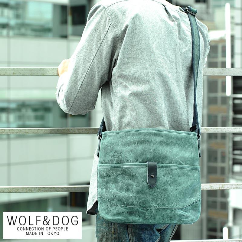 【 ポイント2倍 】 WOLF&DOG 馬革サコッシュバッグ ホワイトホース メンズ サコッシュ 革 本革 レザー 日本製 iPad mini 【送料無料】