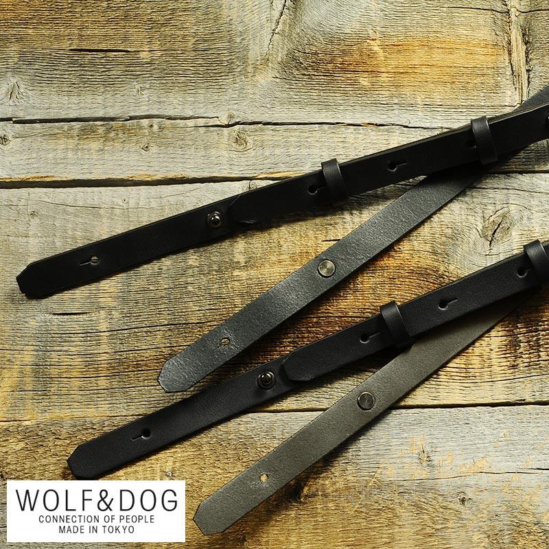 WOLF&DOG 牛革ショルダーストラップ 単品 ショルダーベルト 単品 革 レザー 日本製