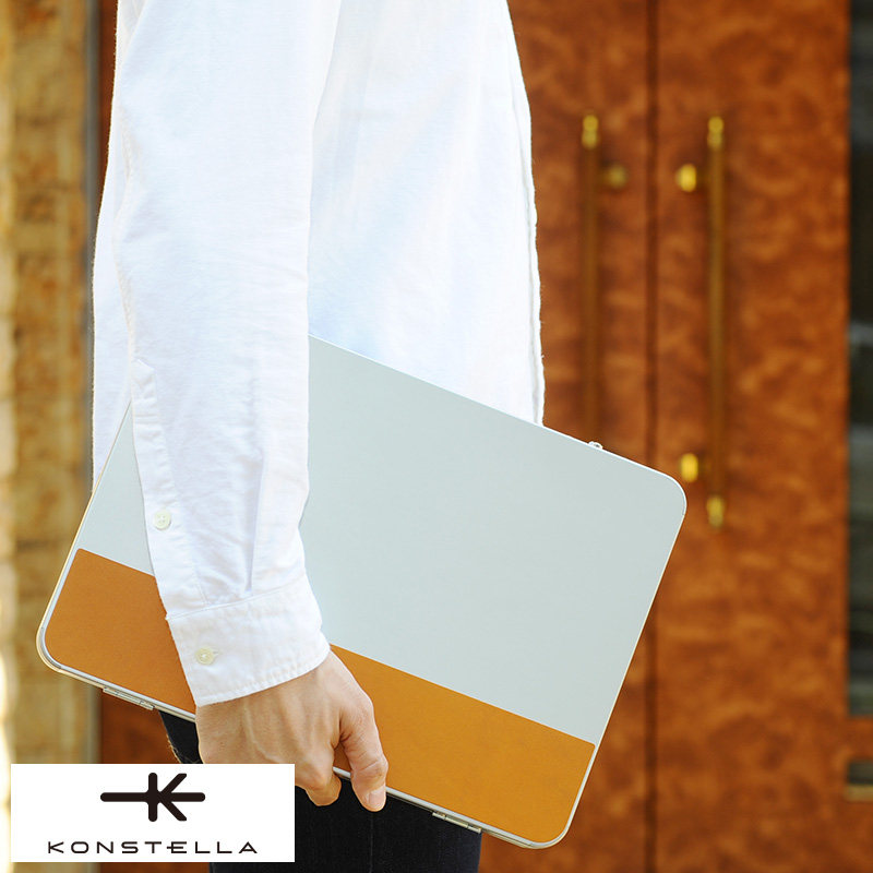 KONSTELLA アルミ合金クラッチバッグ CLUTCH 男性用 メンズ パソコン ケース バッグ 13インチ 日本製 アルミ A4 鞄 かばん バッグ