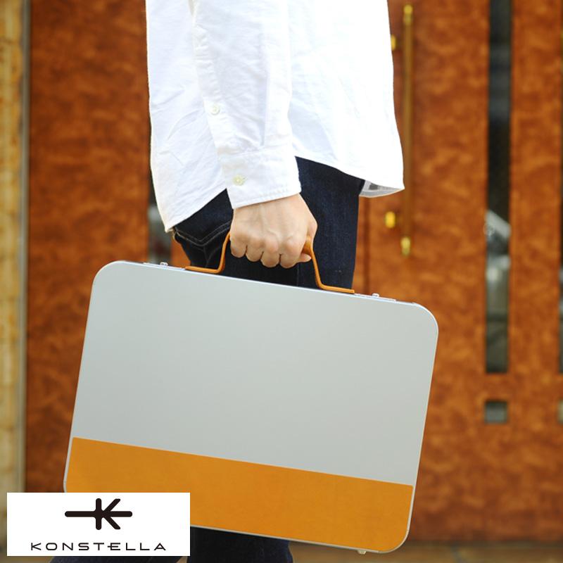 KONSTELLA アルミ合金アタッシュケース BRIEF CASE 男性用 メンズ アタッシュケース 軽量 日本製 A4ファイル アルミ ブリーフケース 鞄 かばん バッグ