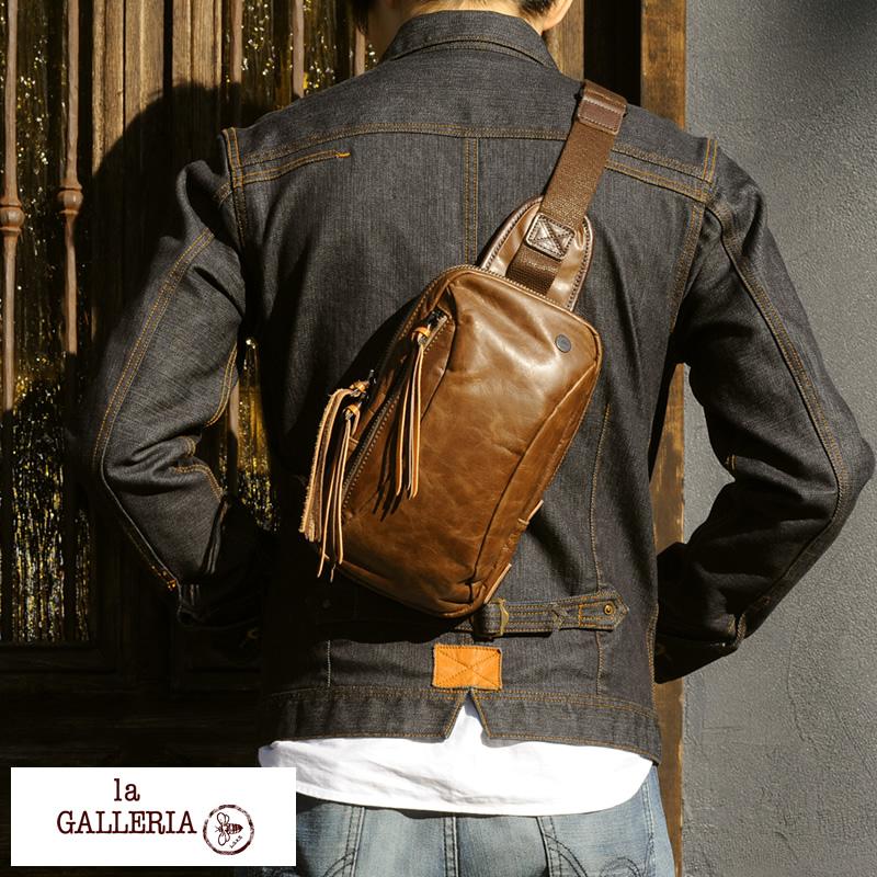 La 拱廊皮革獄政吉普賽和男人的一肩 / 葉片肩袋、 皮革箱包、 皮革皮具皮革袋挎包青木、 在日本 /iPad 迷你 /