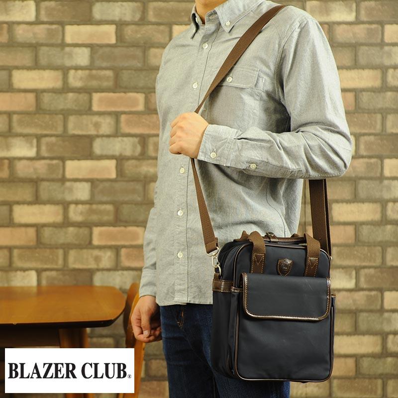 【 ポイント2倍 】 BLAZER CLUB 3wayミニショルダーバッグ 男性用 メンズ ショルダーバッグ ミニ 日本製 帆布 リュック 小さめ 小型 鞄 かばん バッグ 【送料無料】
