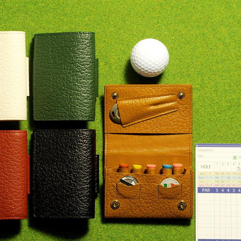 Mens Bag Shinshi Mono Golf Tea Holder Japan Hide Tanning Cowhide