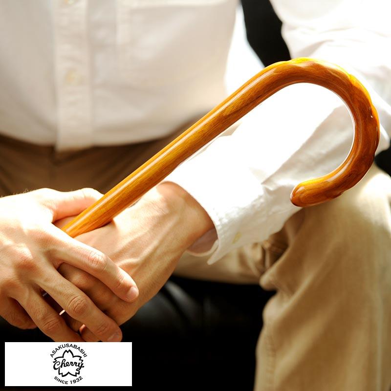 ステッキ 杖 おしゃれ 高級 Cherry Mountain 大曲ステッキ 杖 けやき製 らせん仕上げ MKM-WD 男性用 ステッキ 杖 高級 おしゃれ 日本製 木製 おじいちゃん プレゼント
