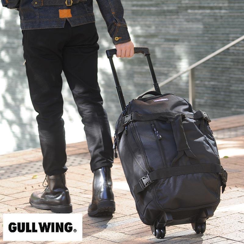 【 ポイント2倍 】 GULL WING 3wayトロリーボストンバッグ ブラック No.15179-01 男性用 メンズ 旅行鞄 キャリーケース リュック スーツケース ナイロン 鞄 かばん バッグ 【送料無料】