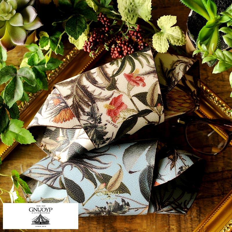 GNUOYP メガネケース The Florilegium 男性用 メンズ 眼鏡ケース サングラスケース おしゃれ 日本製 花柄 ボタニカル 派手 プレゼント