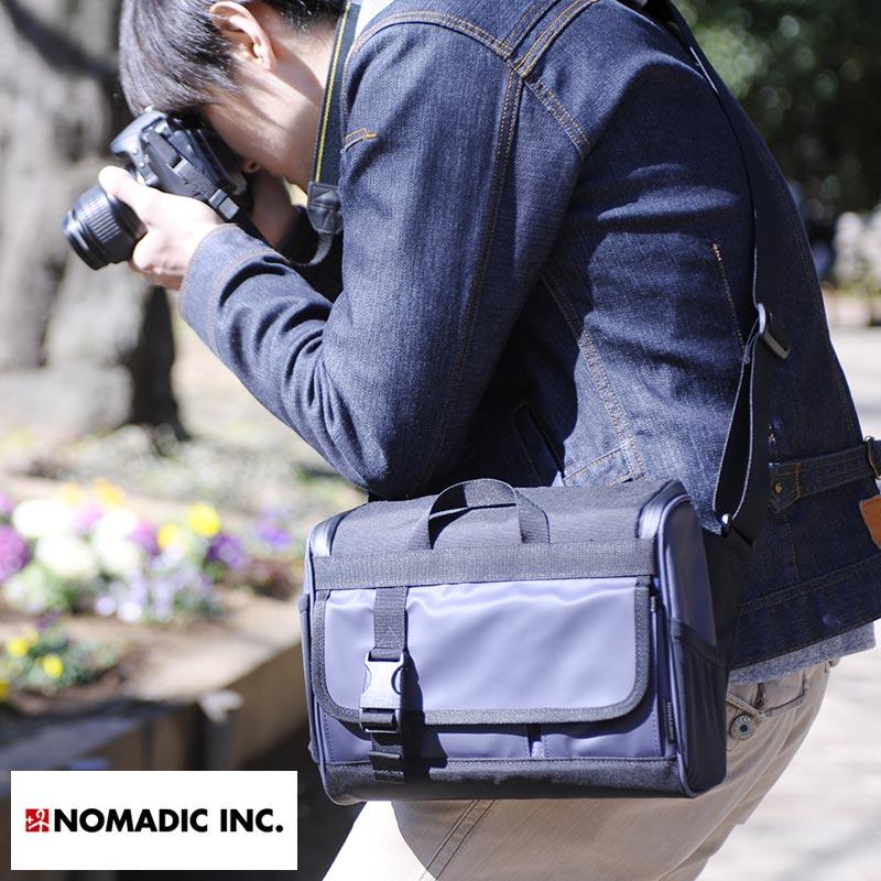 【 ポイント2倍 】 NOMADIC ノーマディック 撥水カメラショルダーバッグ 5L  男性用 メンズ カメラバッグ 一眼レフ ショルダー ミラーレス ナイロン 鞄 かばん バッグ
