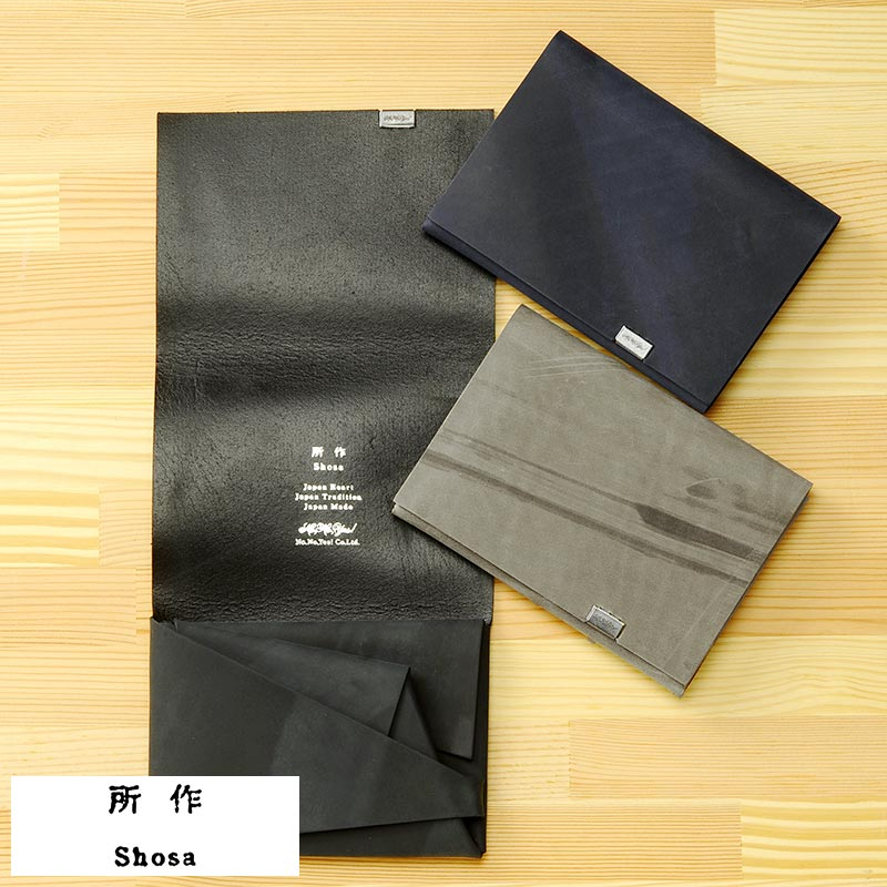 所作 shosa 二つ折り財布 1.0 オイルヌバック Short Wallet 男性用 メンズ 財布 二つ折り 小銭入れあり 日本製 革 本革 レザー 和風 変わった財布 プレゼント 【あす楽対応】 【送料無料】
