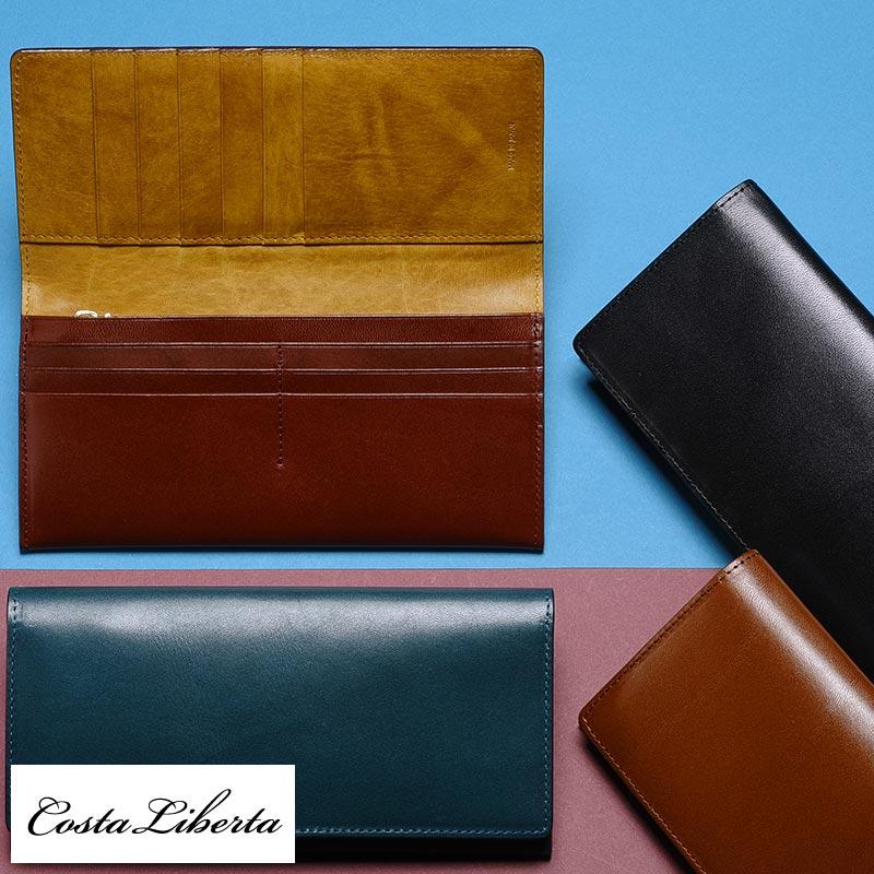 3e20303f4936 Costa Liberta 長財布 栃木レザー メンズ バイカラー 小銭入れあり 日本製 本革