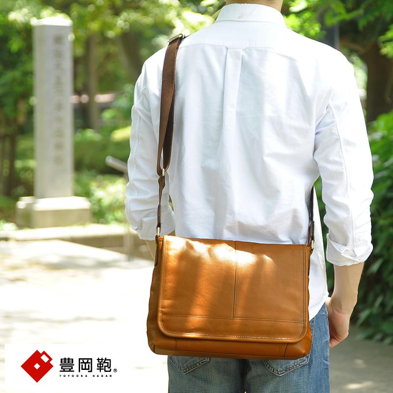 【 ポイント2倍 】 豊岡鞄 ショルダーバッグ メンズ 本革 牛革 横型 斜めがけバッグ B5 シンプル カジュアル 斜めがけ 大人 かっこいい レザー 【送料無料】