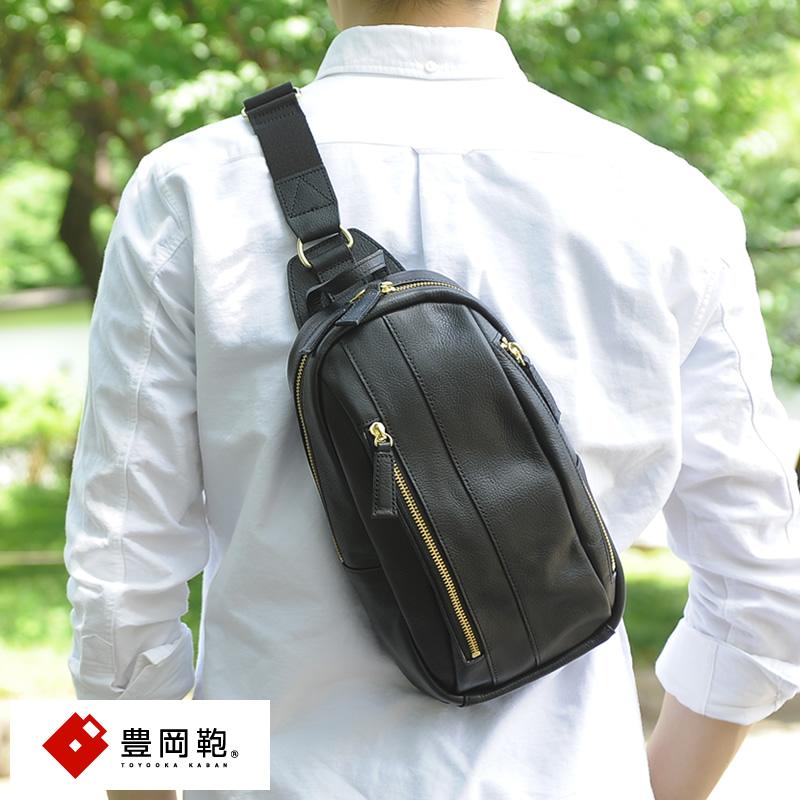 【 ポイント2倍 】 ボディバッグ メンズ 本革 豊岡鞄 縦型 牛革ボディバッグ かっこいい 小さい 日本製 レザー コンパクト 小型 革 男性 大人 【送料無料】