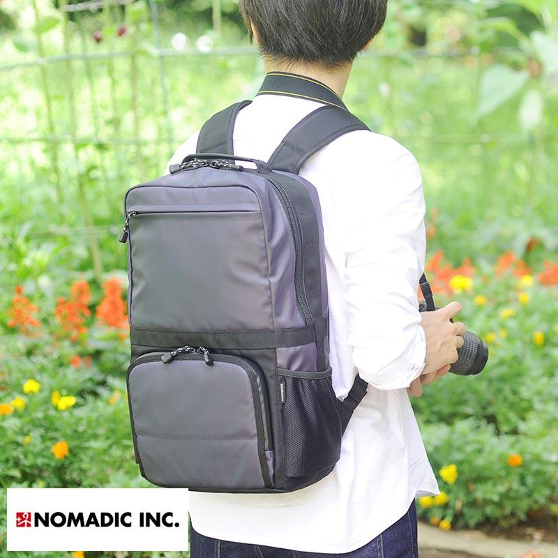 【 ポイント2倍 】 NOMADIC ノーマディック 撥水カメラリュック 男性用 メンズ カメラバッグ 一眼レフ リュック パソコン 三脚 ビジネス リュック 鞄 かばん バッグ