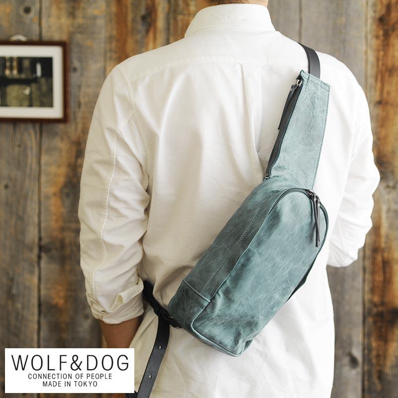 【 ポイント2倍 】 WOLF&DOG 馬革ワンショルダーバッグ ホワイトホース 男性用 メンズ ボディバッグ 革 本革 レザー 日本製 小さめ ヴィンテージ 30代 40代 50代 鞄 かばん バッグ 【送料無料】