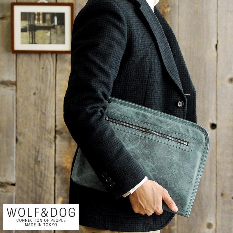 【 ポイント2倍 】 WOLF&DOG 馬革クラッチバッグ ホワイトホース 男性用 メンズ クラッチバッグ 革 本革 レザー 日本製 A4 ヴィンテージ 30代 40代 50代 鞄 かばん バッグ 【送料無料】