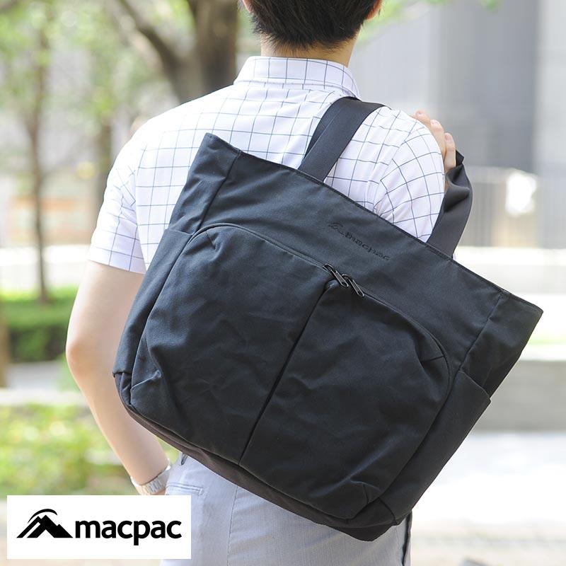 【 ポイント2倍 】 macpac ビジネストートバッグ Rawhaki Tote ブラック MM81803-K 男性用 メンズ トートバッグ キャンバス 帆布 B4 ビジネスバッグ パソコン キャリーオン 鞄 かばん バッグ 【あす楽対応】