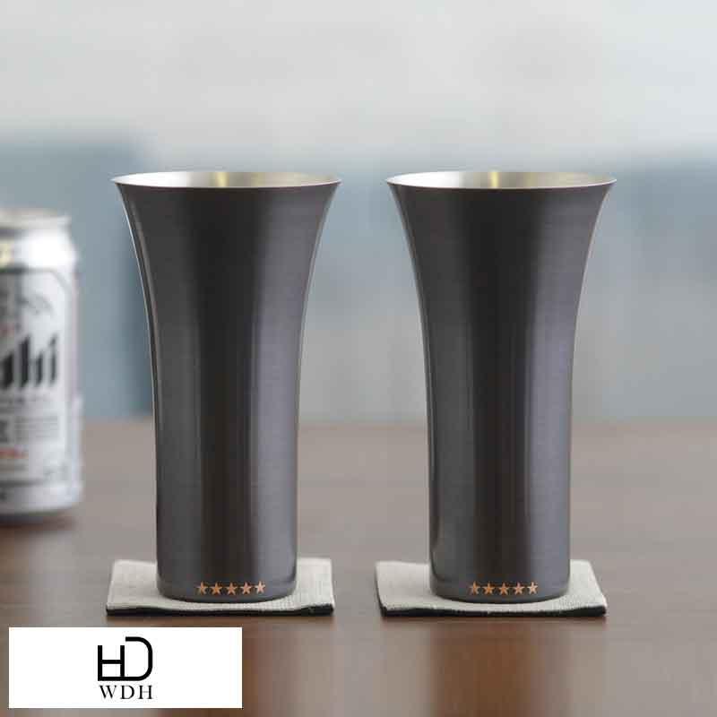 【お年賀】 WDH 純銅製ビアタンブラー 2個セット ブラウン WDH-0017 夫婦グラス プレゼント 両親 お揃い タンブラー ビールグラス 保冷 ペアセット プレゼント ギフト