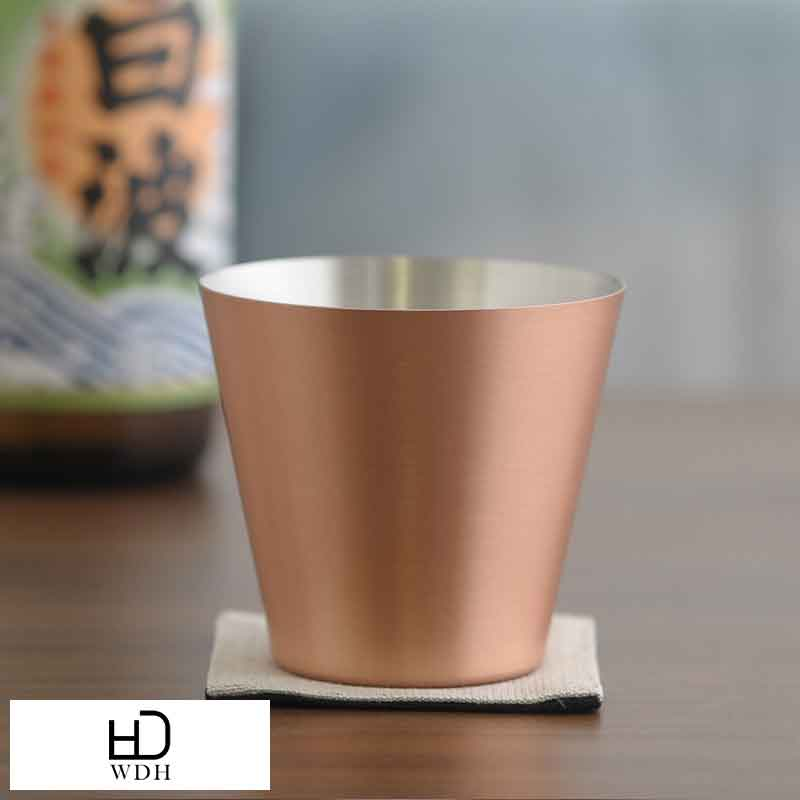 【 ポイント2倍 】 WDH 純銅製カップ マット WDH-0076 男性用 メンズ ロックグラス 日本製 ウイスキー 保冷 焼酎 コップ 酒器 プレゼント ギフト