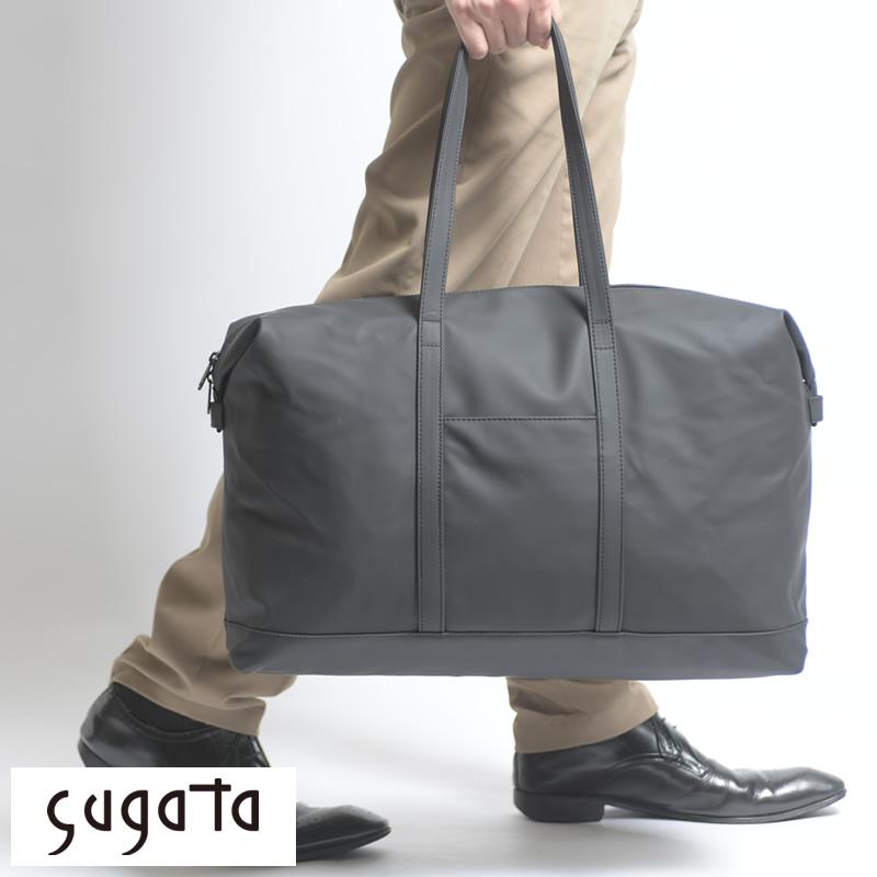 【 ポイント2倍 】 sugata メンズ ボストンバッグ 折りたたみ 収納可能 たたむ膨らむ 軽量 旅行 収納 持ち運び コンパクト トートバッグ 大容量 バッグ たためる 【送料無料】
