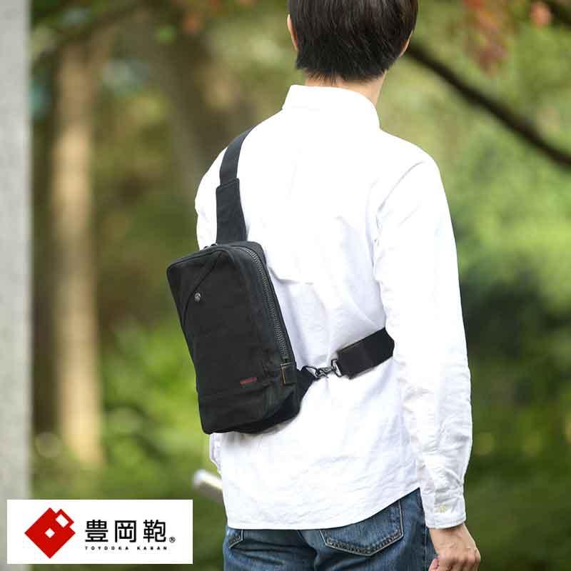【 ポイント2倍 】 豊岡鞄 ボディバッグ メンズ 8号 帆布 Stitch-on Rude ワンショルダー 縦型 日本製 丈夫 タテ 大人 男性 カジュアル