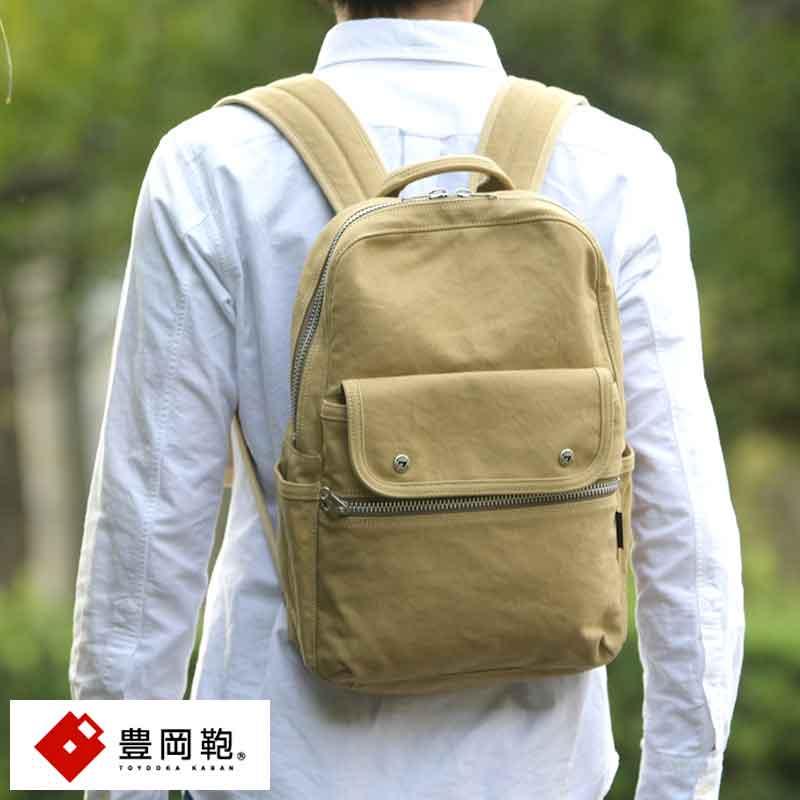 【 ポイント2倍 】 豊岡鞄 リュックサック メンズ 帆布 Stitch-on Rude リュック B4 日本製 バックパック カジュアル 通勤 通学 シンプル 大人 男性