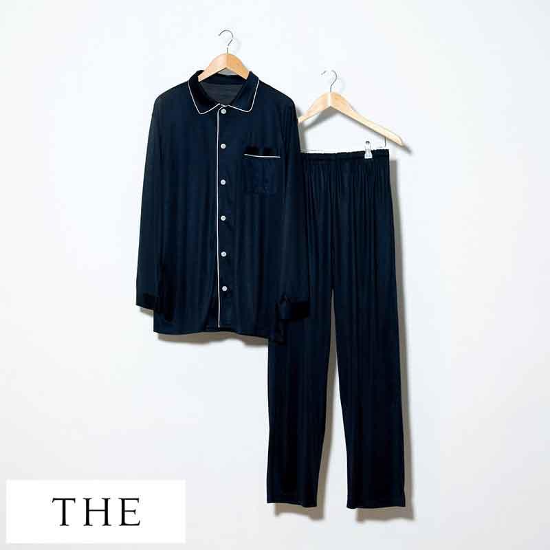 【激安アウトレット!】 パジャマ シルク メンズ THE (ザ) 日本製 シルクパジャマ Pajamas おしゃれ シルク製 大人 国産 メンズパジャマ 長袖 寝巻き 人気 おすすめ ギフト プレゼント, シロヤママチ 195c3cfe