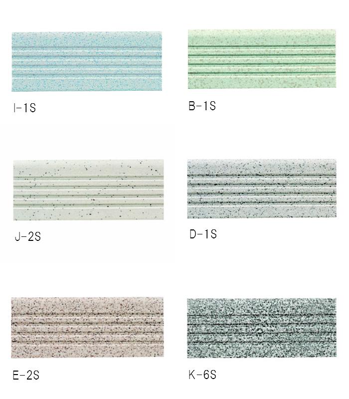 段鼻タイル SG 6号階段 I-1S,B-1S,J-2S,D-1S,E-2S,K-6S 1箱 120枚入り ご希望のタイプに☑を入れてください。 ※画像の色と現物と若干色が違って見える場合があります。