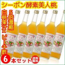 シーボン 酵素美人-桃 6本セット