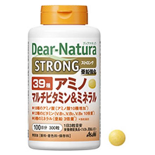 上等 39種の栄養成分を 1日3粒で手軽に補えます ディアナチュラ ストロング 39種アミノ マルチビタミンミネラル ふるさと割 300粒x24点 100日分 ケース販売