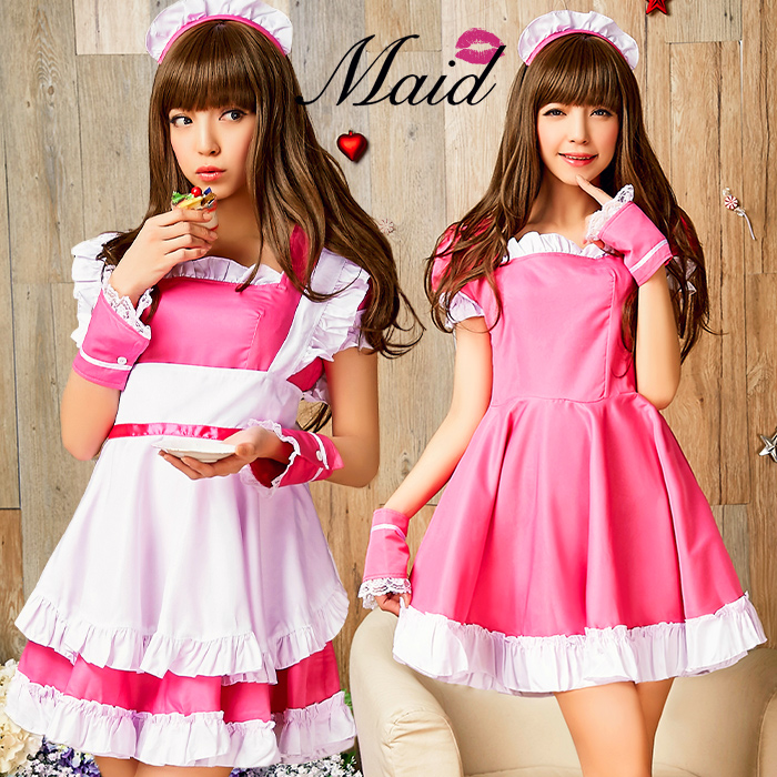 Puffy S Straining Maid Dress Cosplay Costume Y Akb48 Kos