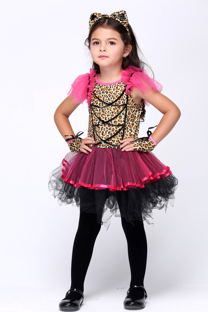 costume halloween costumes kids girls cat cat cat ears leopard leopard dress witch witch small devils cosplay cat girl animal cat children child kids