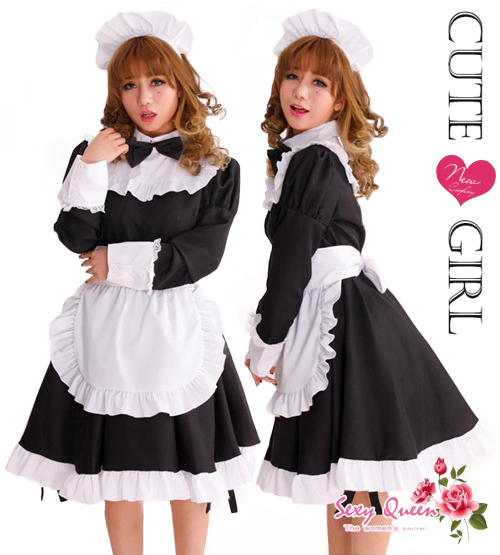 OSHAREVO | Rakuten Global Market Puffy nipples straining maid clothes cosplay costume anime store costume set cl2071 black and white long sleeves bow tie ...  sc 1 st  Rakuten & OSHAREVO | Rakuten Global Market: Puffy nipples straining maid ...