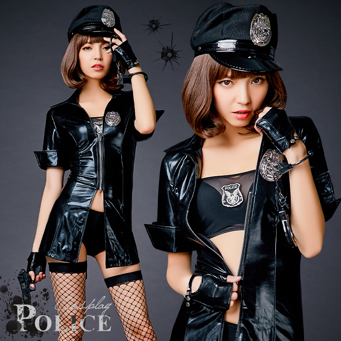 ハロウィン コスプレ ポリス 警察 警官 婦警 キャラクター セクシー 大きいサイズ 大人 レディース 帽子 制服 コスチューム