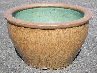 水鉢 18【灰釉】Bサイズ 睡蓮鉢 水鉢 メダカ 金魚 飼育 鉢