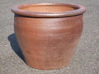 焼き締め 植木鉢 3-B 植木鉢 シンプル