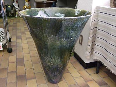 秀美作 なまこ釉 大花瓶 壷