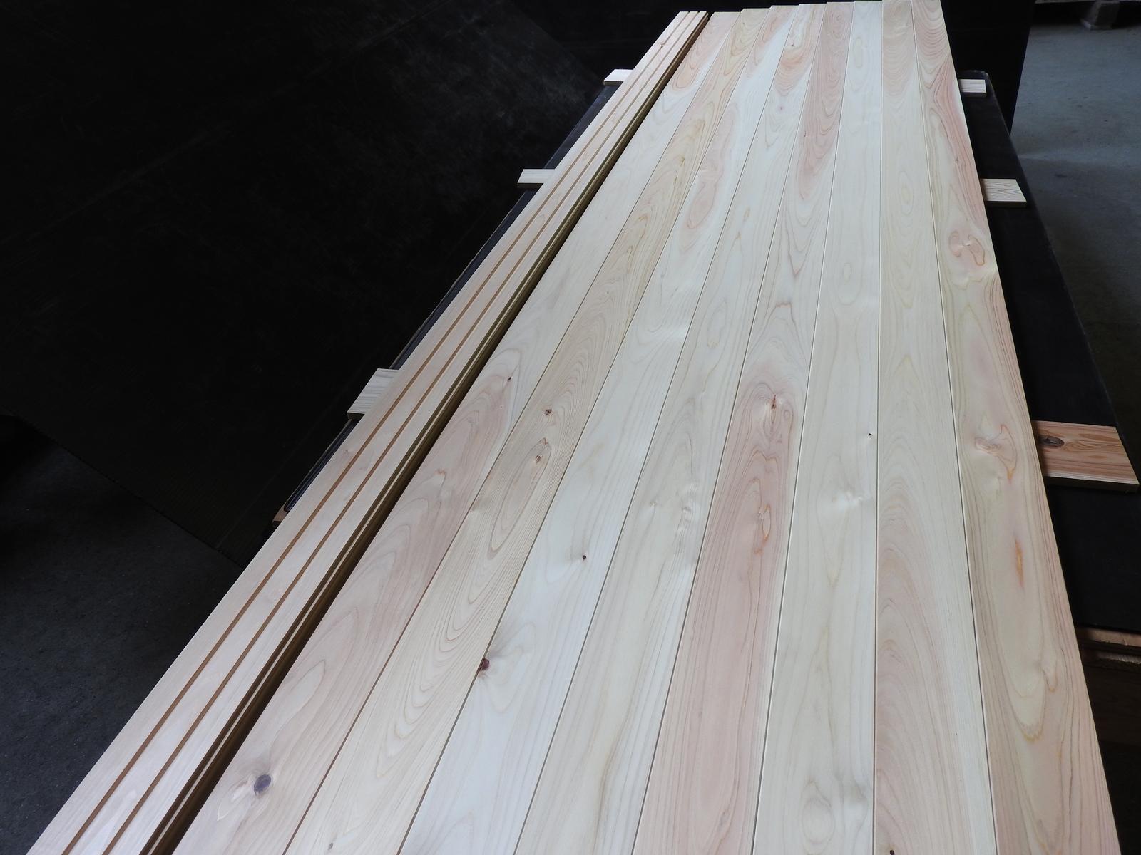 国産檜フローリング板 桧板 無垢 フローリング材 上小節 国産幅86.5×厚み15×長さ2900mm 10枚入り 床板