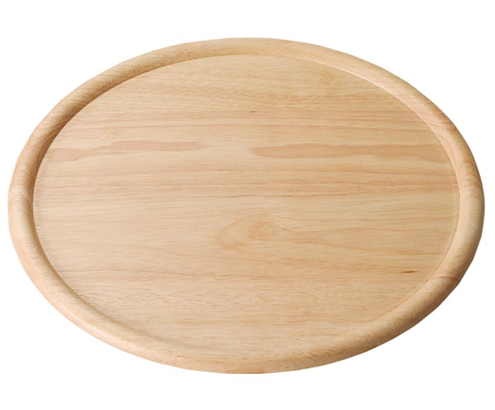 real wood plate natural 33 cm round plate  sc 1 st  Rakuten : wooden pizza plate - pezcame.com