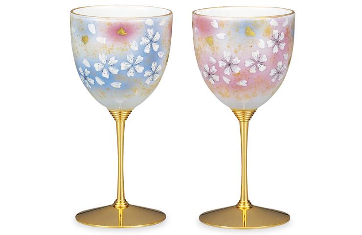 九谷焼 ペアワイン 花の舞<>和食器 酒器  ペア 人気 ギフト セット 贈り物 結婚祝い/内祝い/お祝い