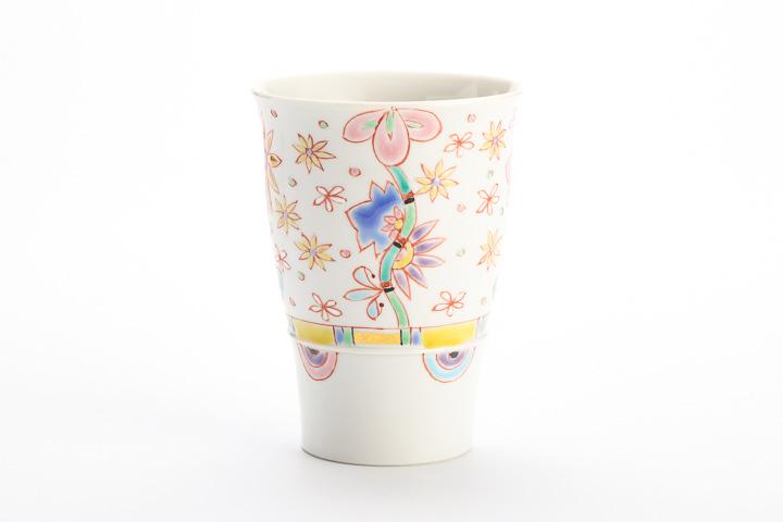 九谷焼 ビアカップ 花爛漫/銀舟窯<>和食器 ビアカップ フリーカップ タンブラー 人気 ギフト 贈り物 結婚祝い/内祝い/お祝い