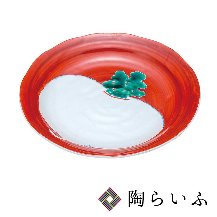 九谷焼 9号盛皿 朱巻かぶ< 和食器 九谷焼 皿 盛皿 人気 ギフト 贈り物 結婚祝い/内祝い/お祝い>
