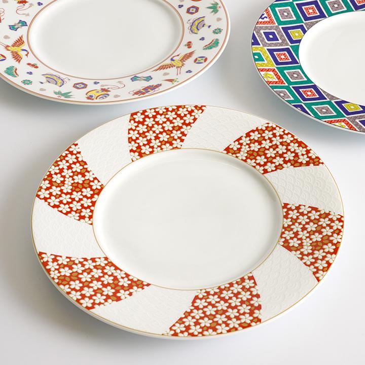 九谷焼 3種から選べる ディナープレート/青郊窯<送料無料>和食器 皿 盛皿 人気 ギフト 贈り物 結婚祝い/内祝い/お祝い/