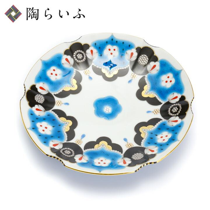 九谷焼 露梅6号皿/西野美香<和食器 皿 人気 ギフト 贈り物 結婚祝い/内祝い/お祝い/>