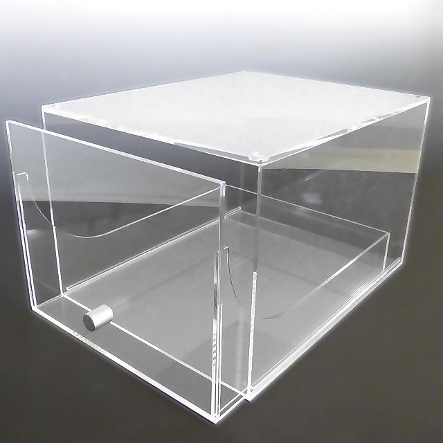 見せるハイカット用シューズ収納ケースアクリル アクリルケース 収納 シューズボックス クリア コレクションケース ショーケース ディスプレイケース ディスプレイ 透明ケース アクリルボックス プラスチック ケース コレクションボックス