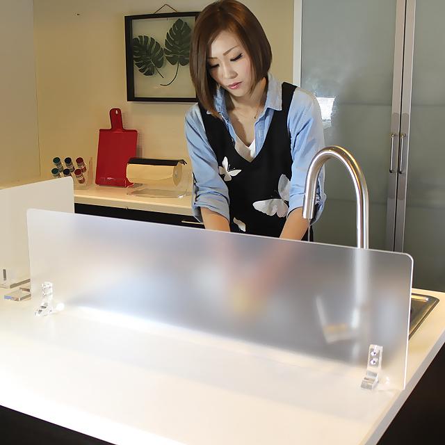 アクリル 水はね防止キッチンスタンド RA1800 ランクアップタイプワイドサイズがオーダー制!全9色 水はね防止 アイランドキッチン シンク 水はね キッチン 目隠し カウンター パネル 水はねガード キッチンガード キッチングッズ