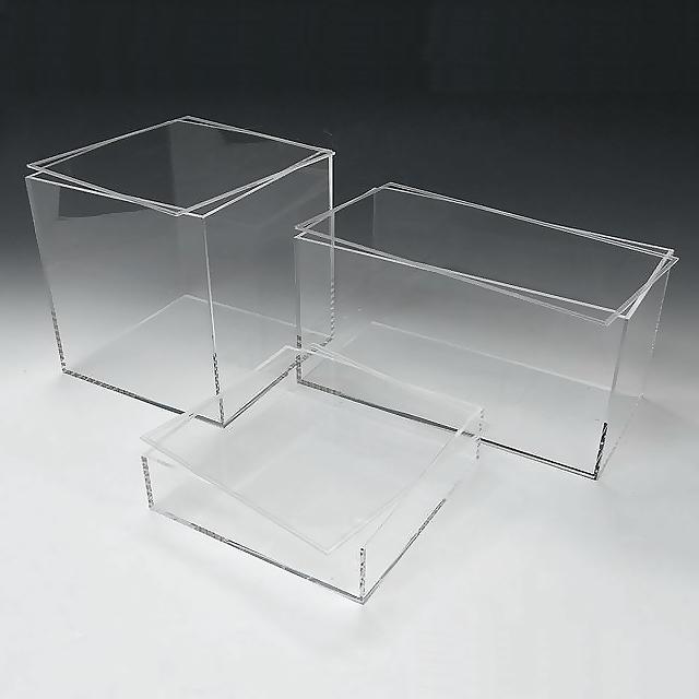 アクリル 透明 収納 BOX W450mm×H450mm×D450mm 4mm厚アクリル板 アクリルケース 物入れ クリア プラスチックケース 透明ケース アクリルBOX アクリルボックス