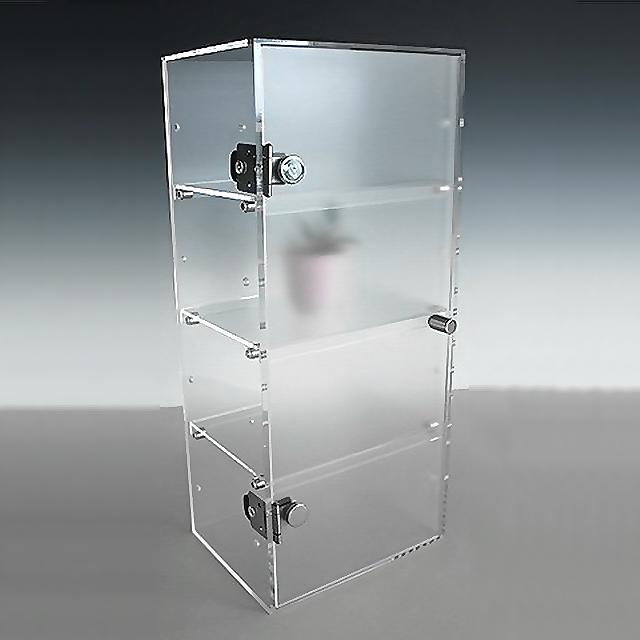 アクリル クリア コレクションラック W300×D200×H900 (扉つき)アクリル板 アクリルケース 物入れ クリア プラスチックケース 透明ケース アクリルBOX アクリルボックス