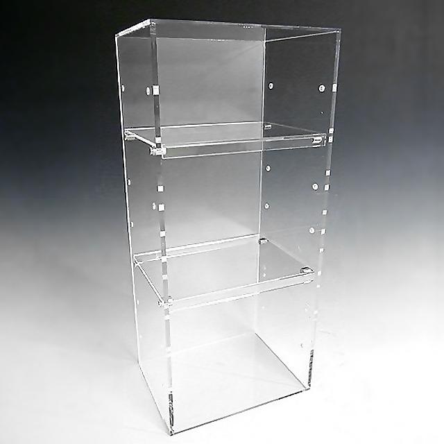 アクリル クリア コレクションラック W300×D200×H600 (扉なし)アクリル板 アクリルケース 物入れ クリア プラスチックケース 透明ケース アクリルBOX アクリルボックス