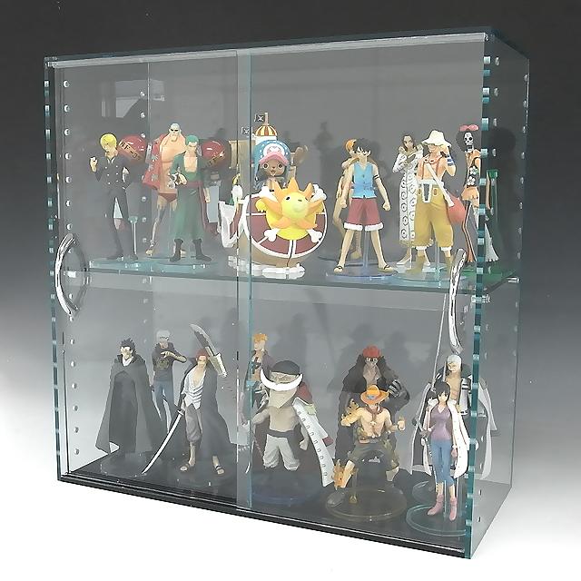 コレクションラック ガラス色 W900×H300×D200 引き戸タイプアクリル板 アクリルケース クリア プラスチックケース 透明ケース アクリルボックス