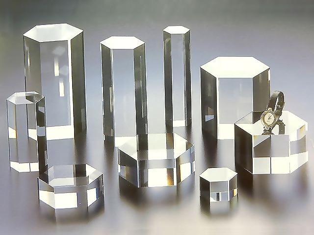 アクリル 六角柱 W100mm×D100mm×H80mmアクリル アクリル素材 アクリルステージ アクリル台 アクリル角柱 アクリル多角形
